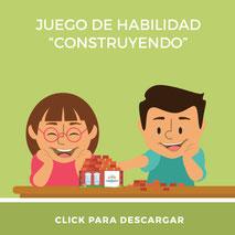 Material didáctico para niños juego construyendo