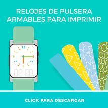 pulsa aqui para descargar los relojes imprimibles de pulsera para enseñar la hora