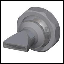 Flachdüse Schlitz 20x2,5mm  Streustrahl  (3-DU-SL-25-SS)