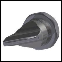 Flachdüse Schlitz 35x1,0mm  gerader Strahl  (3-DU-SL-50-GS-1.0)