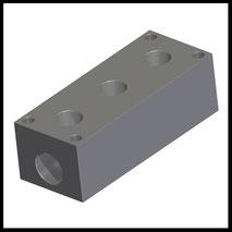 """Verteilerblock 3x G3/8""""  (VB-3-38)"""