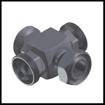 Kreuz-Stück mit Kugelstück  (2-WV-3K)