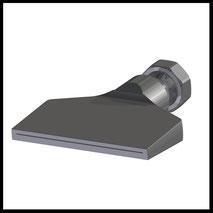 Flachdüse Schlitz 81x0,6mm  gerader Strahl  (2-DU-SL-87-GS-0.6)