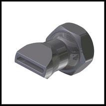 Flachdüse Schlitz 18x2,5mm  gerader Strahl  (2-DU-SL-25-GS)