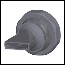 Flachdüse Schlitz 22x4,0mm  Streustrahl  (3-DU-SL-25)