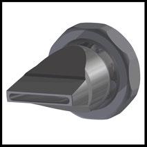 Flachdüse Schlitz 28x2,5mm  gerader Strahl  (3-DU-SL-31-GS)