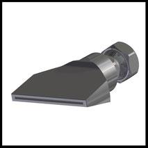 Flachdüse Schlitz 58x1,0mm  gerader Strahl  (2-DU-SL-65-GS-1.0)