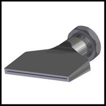 Flachdüse Schlitz 81x1,2mm  gerader Strahl  (3-DU-SL-87-GS-1.2)