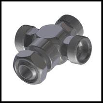 Kreuz-Stück mit Kugelstück  (1-WV-3K)