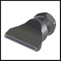 Flachdüse Schlitz 35x1,0mm  gerader Strahl  (2-DU-SL-50-GS-1.0)