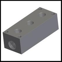 "Verteilerblock 3x G3/8"" konisch  (VB-3-38-PT)"