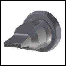 Düse gerade Bohrungen  5x Ø3,0mm  (3-DU-LL-5-3)