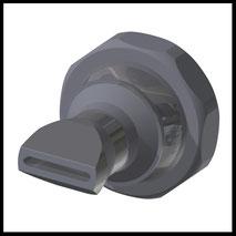 Flachdüse Schlitz 18x2,5mm  gerader Strahl  (3-DU-SL-25-GS)