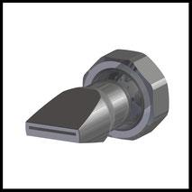 Flachdüse Schlitz 18x1,0mm  gerader Strahl  (2-DU-SL-25-GS-1.0)