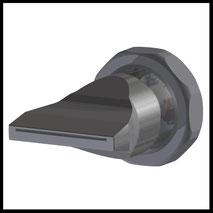 Flachdüse Schlitz 35x0,4mm  gerader Strahl  (3-DU-SL-50-GS-0.4)