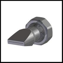 Flachdüse Schlitz 18x0,4mm  gerader Strahl  (2-DU-SL-25-GS-0.4)