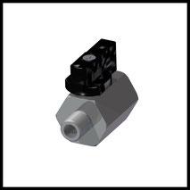 """Mini-Kugelhahn G1/8"""" IG/AG  Messing Verchromt  (KH-18)"""