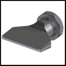 Flachdüse Schlitz 58x0,4mm  gerader Strahl  (3-DU-SL-65-GS-0.4)