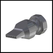Düse gerade Bohrungen  5x Ø3,0mm  (2-DU-LL-5-3)