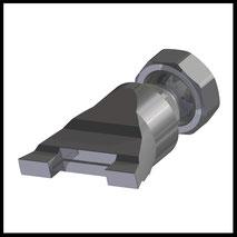 Flachdüse Schlitz 23x 1,0mm  mit seitlicher Kühlung  (2-DU-1912-SA)