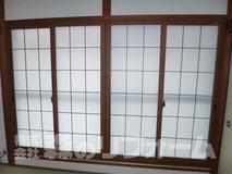 松戸市和室用内窓設置リフォーム クロス貼り替え
