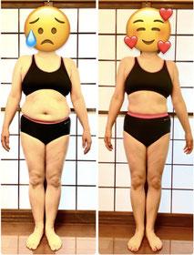 50代女性 DNAパーソナル瘦身の結果