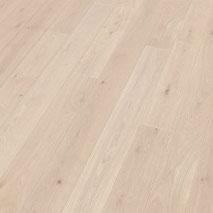 Landhausdiele Floor Art Eiche superweiß