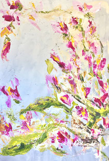 Floral, Acryl auf Leinwand, JULIA! Neulinger-Kahl