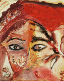 """Nathalie Arun """"what women have to see"""", 40 x 50 cm, mixed media on canvas 2014, this picture is sold"""