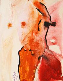 "Nathalie Arun ""healing dancer"", 40 x 50 cm, mixed media on canvas 2014"