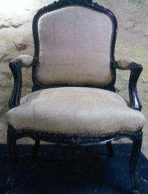 fauteuil Napoléon III en garniture traditionnelle