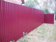 забор из профнастила кованый купить тюмень цена