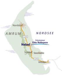 Amrum - Insel in der Nordsee - Hotel Ekke Nekkepenn - Ihr Hotel in Nebel auf Amrum