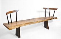 Bench · B1054 · Walnut, Bog Oak, Oak#bench#stool#console#sculpture##woodworking#interiordesign#woodsculptures#art#woodart#wooddesign#decorativewood#originalartwork#modernwoodsculpture#joergpietschmann#oldwood