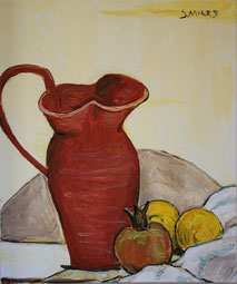 Still-Life with Red Pitcher, Sarah Myers