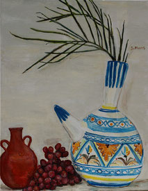 Still-Life with Water-Pots, painting by Sarah Myers