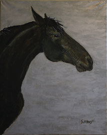 Horse on Silver, painting by Sarah Myers