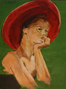 The Hat, painting by Sarah Myers