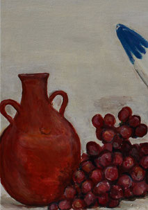 Still-Life with Water-Pots, detail, painting by Sarah Myers