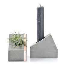 Concrete Copper Air Plant Or Candle Holder House by PASiNGA