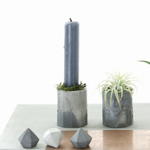 Mini Marble Concrete Air Plant or Candle Holder Cup by PASiNGA