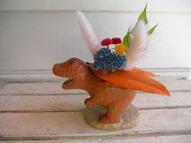 プリザーブドフラワーの恐竜アレンジ