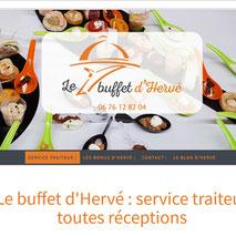 Dans le 1000 Communication - Agence web et design en Loir-et-Cher - Création du site web responsive design pour le traiteur Le Buffet d'Hervé