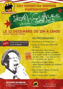 Dans le 1000 Communication - Agence graphique en Loir-et-Cher - Création de flyers, plaquettes, affiches, cartes de visite, banderoles - Affiche concert pour les Gones de M'bour au Sénégal