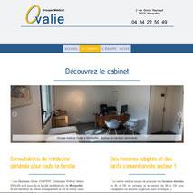 Dans le 1000 Communication - Agence web et design en Loir-et-Cher - Création du site web responsive design du cabinet médical Ovalie à Montpellier