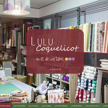 Dans le 1000 Communication - Agence web et design en Loir-et-Cher - Création du site web responsive design de la boutique de tissus et laines en Sologne Lulu Coquelicot