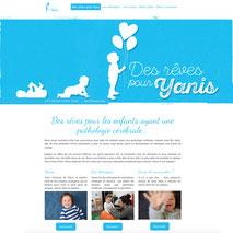 Dans le 1000 Communication - Agence web et design en Loir-et-Cher - Création du site web responsive design de l'association Des Rêves Pour Yanis