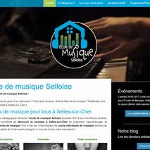 Dans le 1000 Communication - Agence web et design en Loir-et-Cher - Création du site web responsive design de l'école de musique de Selles-sur-Cher