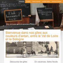 Dans le 1000 Communication - Agence web et design en Loir-et-Cher - Création du site web responsive design des gîtes communaux de l'Ecole Buissonnière à Cheverny