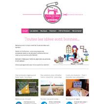Création du site web responsive design Toutes Les Idées Sont Bonnes - Couture et ateliers en Sologne Loir-et-Cher - Cécile Marino Dans le 1000 Communication